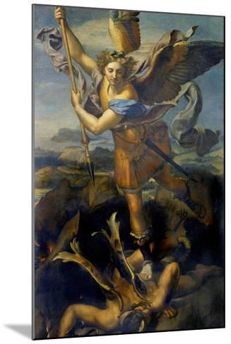 Der Hl, Michael Besiegt Den Teufel, 1518-Raffael-Mounted Giclee Print