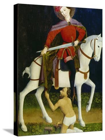 Saint Martin and the Beggar-Ulmer Meister-Stretched Canvas Print
