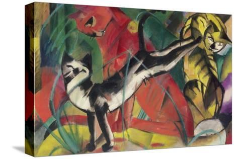Three Cats, 1913-Franz Marc-Stretched Canvas Print