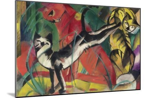 Three Cats, 1913-Franz Marc-Mounted Giclee Print