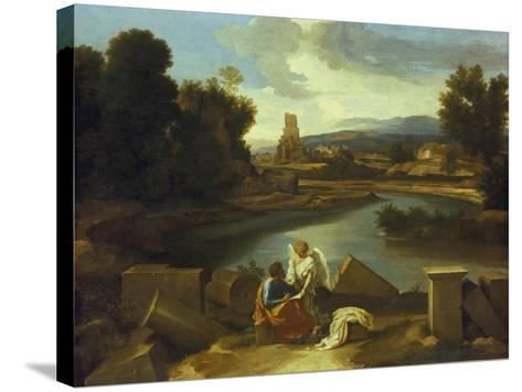 Landscape with St, Matthew, 1640-Nicolas Poussin-Stretched Canvas Print