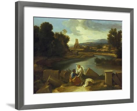 Landscape with St, Matthew, 1640-Nicolas Poussin-Framed Art Print