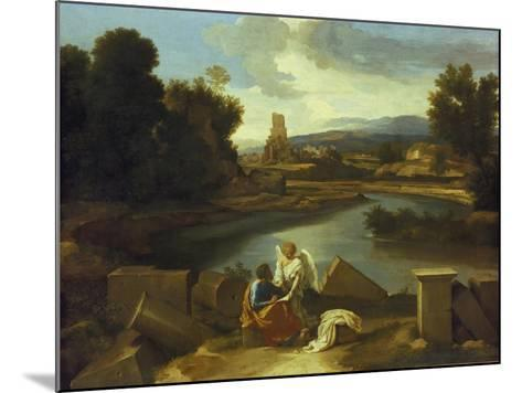 Landscape with St, Matthew, 1640-Nicolas Poussin-Mounted Giclee Print