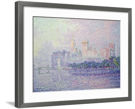 The Papal Palace in Avignon, 1900-Paul Signac-Framed Art Print