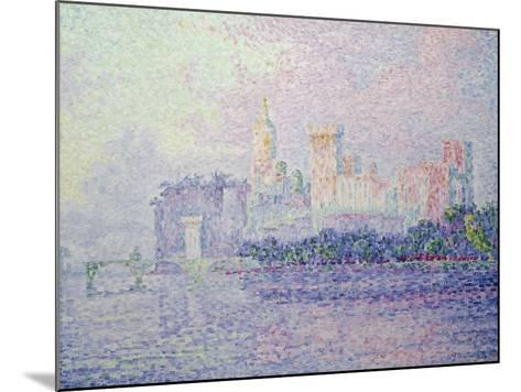 The Papal Palace in Avignon, 1900-Paul Signac-Mounted Giclee Print