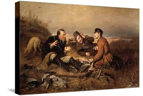 Hunters, 1871-Vasily Perov-Stretched Canvas Print
