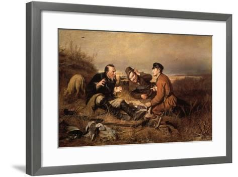 Hunters, 1871-Vasily Perov-Framed Art Print