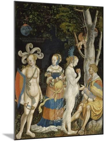 The Judgement of Paris-Niklaus Manuel I Deutsch-Mounted Giclee Print