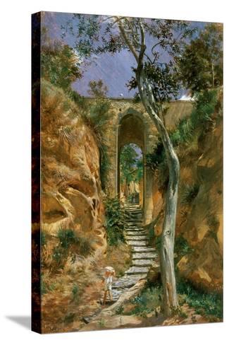 Bridge in Vico, 1858-Nikolai Gay-Stretched Canvas Print