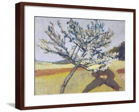 Liegender Mann Unter Bluehendem Baum, 1903-Paula Modersohn-Becker-Framed Art Print