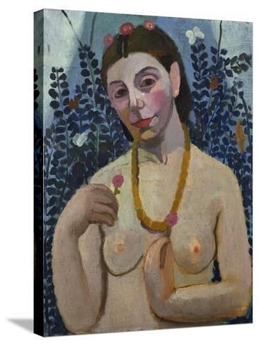"Self-Portrait (Half-Portrait, ""Nude with Necklace"") 1906-Paula Modersohn-Becker-Stretched Canvas Print"