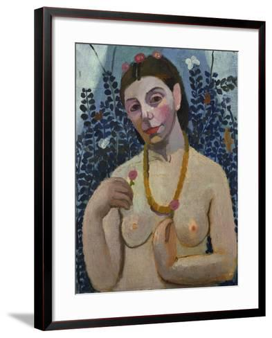 "Self-Portrait (Half-Portrait, ""Nude with Necklace"") 1906-Paula Modersohn-Becker-Framed Art Print"