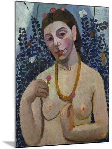 "Self-Portrait (Half-Portrait, ""Nude with Necklace"") 1906-Paula Modersohn-Becker-Mounted Giclee Print"