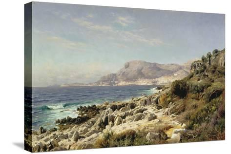 Coastline Near Monte Carlo, 1907-Peder Moensted-Stretched Canvas Print