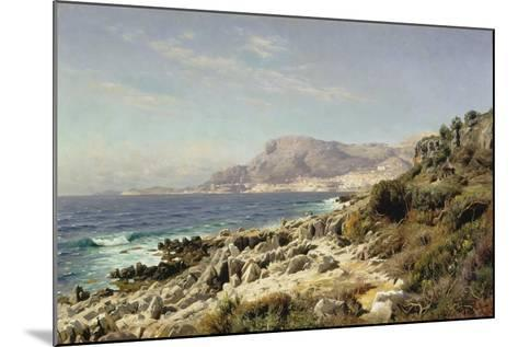 Coastline Near Monte Carlo, 1907-Peder Moensted-Mounted Giclee Print