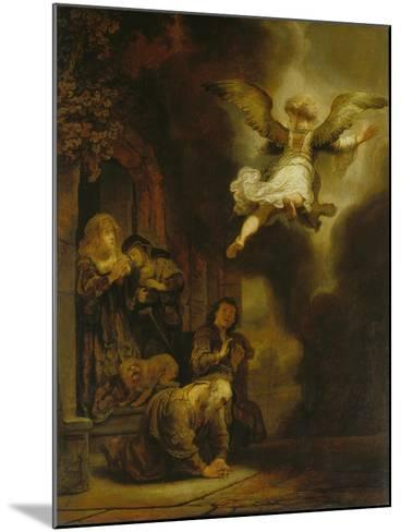The Archangel Raphael Taking Leave of the Tobit Family, 1637-Rembrandt van Rijn-Mounted Giclee Print