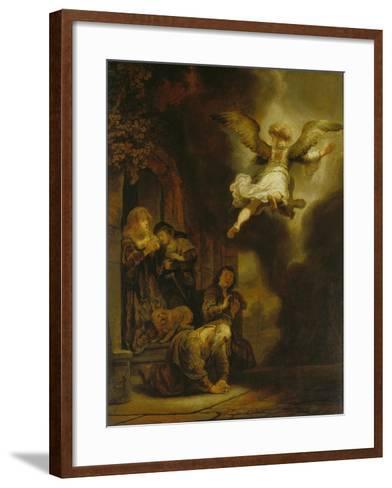 The Archangel Raphael Taking Leave of the Tobit Family, 1637-Rembrandt van Rijn-Framed Art Print