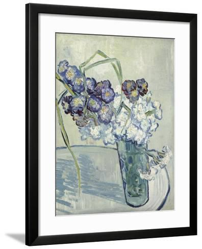 Carnations in a Vase, Auvers, June 1890-Vincent van Gogh-Framed Art Print