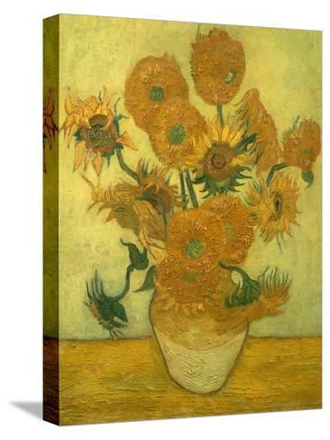 Fourteen Sunflowers in a Vase, 1889-Vincent van Gogh-Stretched Canvas Print