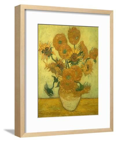 Fourteen Sunflowers in a Vase, 1889-Vincent van Gogh-Framed Art Print