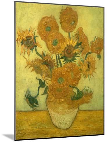 Fourteen Sunflowers in a Vase, 1889-Vincent van Gogh-Mounted Giclee Print