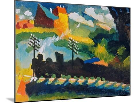Railway Near Murnau, 1909--Mounted Giclee Print