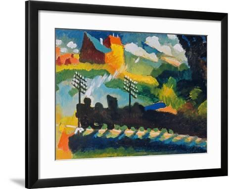 Railway Near Murnau, 1909--Framed Art Print