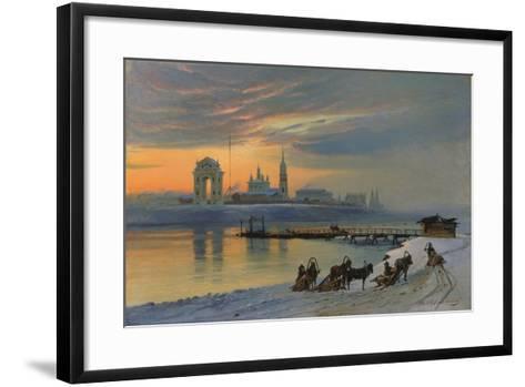 Winter in Irkutsk at the Angara, 1886-Nikolay Fjodorow Dobrovolsky-Framed Art Print