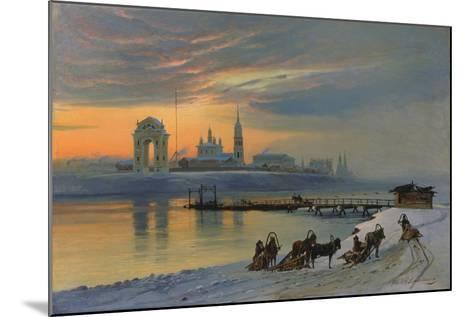 Winter in Irkutsk at the Angara, 1886-Nikolay Fjodorow Dobrovolsky-Mounted Giclee Print