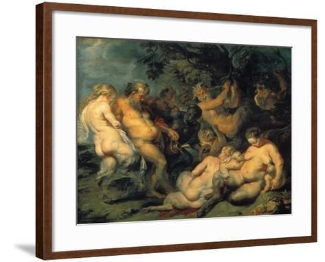 Bacchanal, C. 1615-Peter Paul Rubens-Framed Art Print