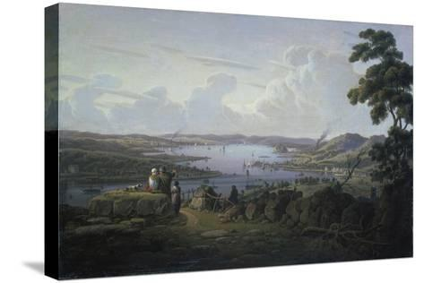View of Dunbarton and the River Clyde, 1817-Robert Salmon-Stretched Canvas Print