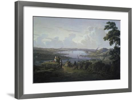 View of Dunbarton and the River Clyde, 1817-Robert Salmon-Framed Art Print