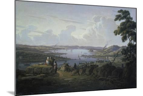 View of Dunbarton and the River Clyde, 1817-Robert Salmon-Mounted Giclee Print