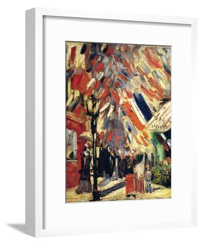 The 14th July, 1886-Vincent van Gogh-Framed Art Print