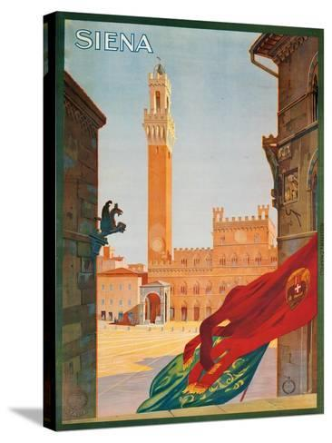 Poster Advertising Siena, 1925--Stretched Canvas Print