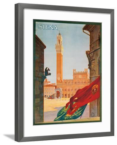Poster Advertising Siena, 1925--Framed Art Print