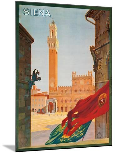 Poster Advertising Siena, 1925--Mounted Giclee Print