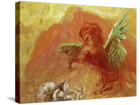 Pegasus Triumphant, 1905-Odilon Redon-Stretched Canvas Print
