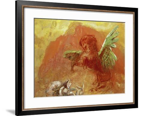 Pegasus Triumphant, 1905-Odilon Redon-Framed Art Print