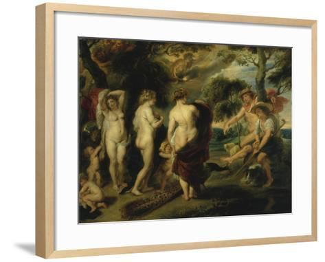 The Judgement of Paris-Peter Paul Rubens-Framed Art Print