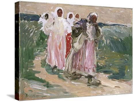 Harvest Women in Russia, 1928-Robert Sterl-Stretched Canvas Print