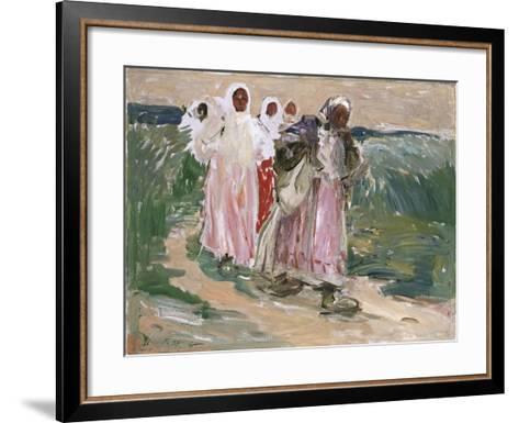 Harvest Women in Russia, 1928-Robert Sterl-Framed Art Print