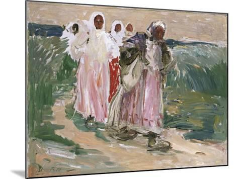 Harvest Women in Russia, 1928-Robert Sterl-Mounted Giclee Print
