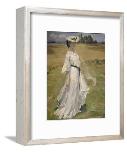 Woman in Lake Constance Landscape, 1904-Robert Weise-Framed Art Print