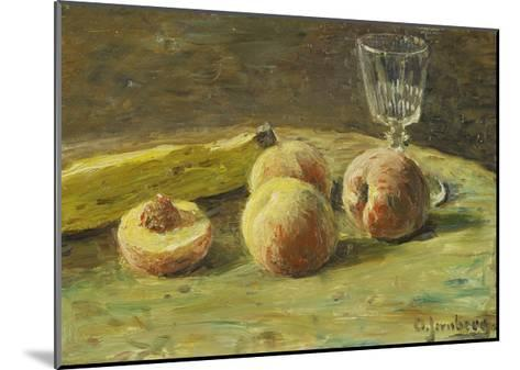 Still Life with Peaches and Wine Glass, Ca, 1890-Orneore Metelli-Mounted Giclee Print