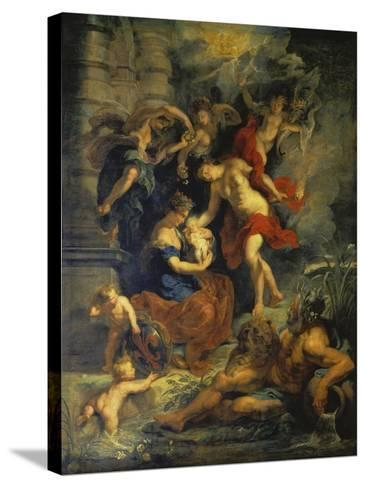 The Medici Cycle: the Birth of Marie De Medici, 1621-25-Peter Paul Rubens-Stretched Canvas Print