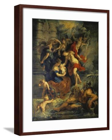 The Medici Cycle: the Birth of Marie De Medici, 1621-25-Peter Paul Rubens-Framed Art Print