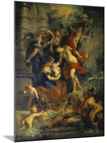 The Medici Cycle: the Birth of Marie De Medici, 1621-25-Peter Paul Rubens-Mounted Giclee Print