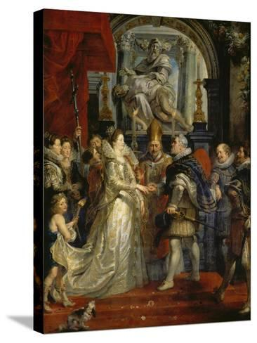 The Proxy Marriage of Marie De Medici and Henri Iv, 5th October 1600, 1621-25-Peter Paul Rubens-Stretched Canvas Print