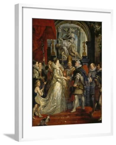 The Proxy Marriage of Marie De Medici and Henri Iv, 5th October 1600, 1621-25-Peter Paul Rubens-Framed Art Print